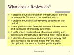 what does a review do1