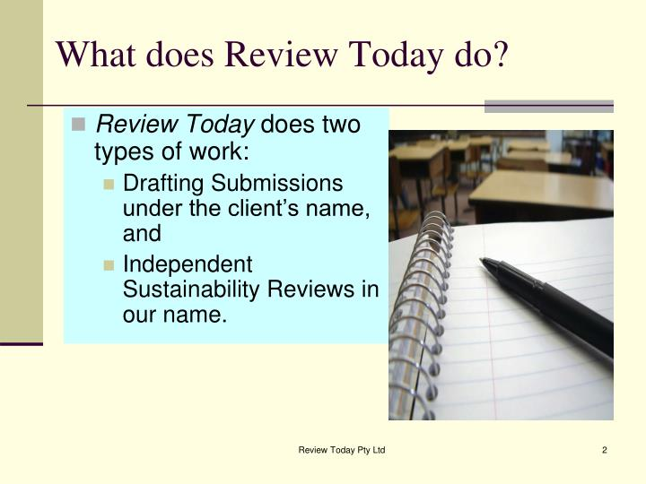 What does Review Today do?