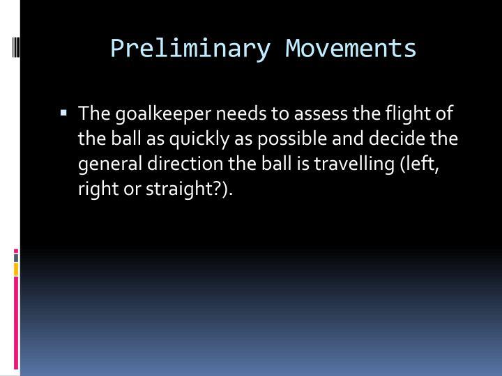 Preliminary Movements