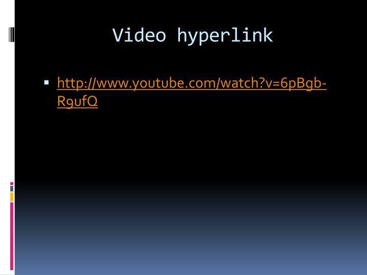 Video hyperlink