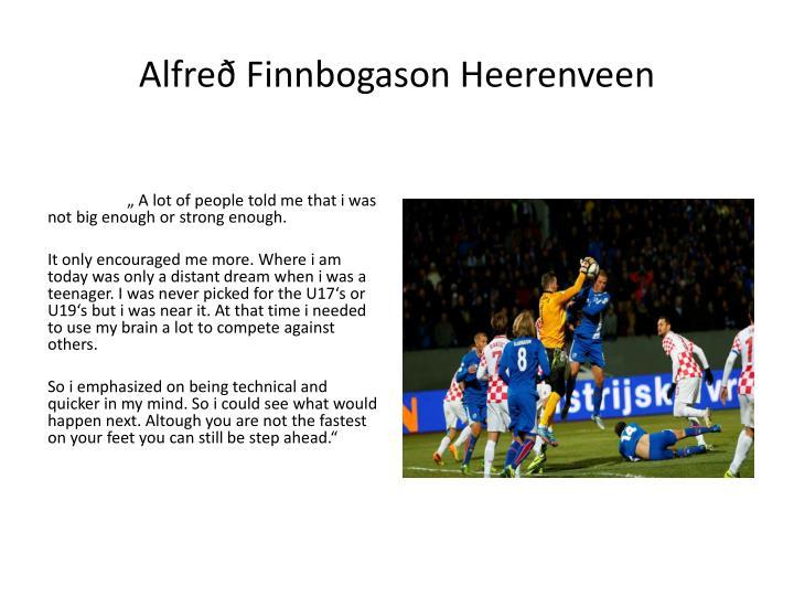 Alfreð Finnbogason Heerenveen