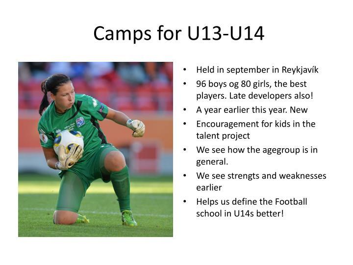 Camps for U13-U14