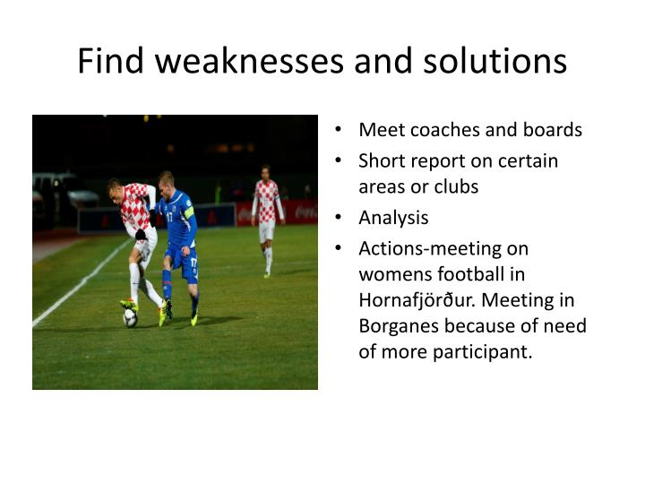 Find weaknesses and solutions