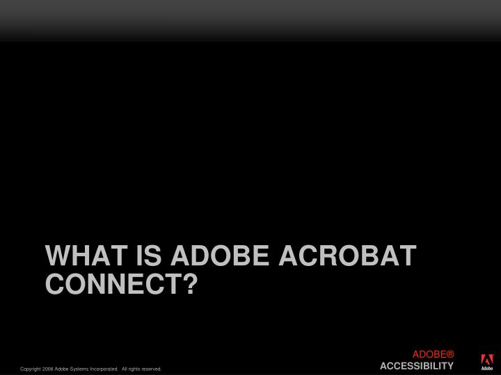 What is adobe acrobat connect