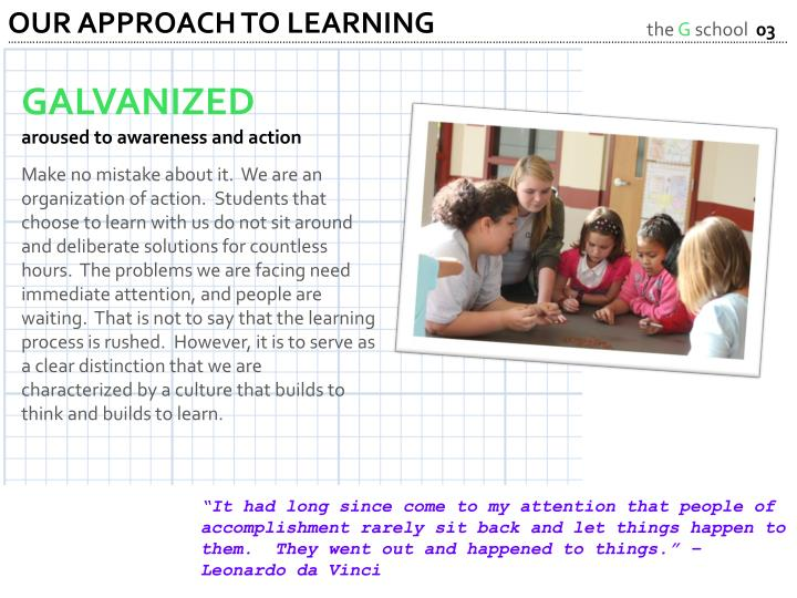 OUR APPROACH TO LEARNING