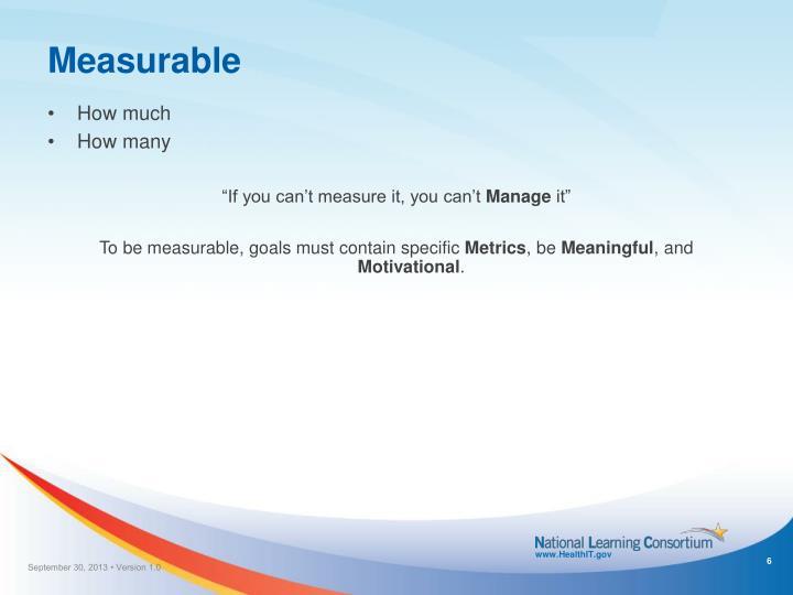 Measurable