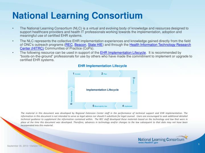 National Learning Consortium