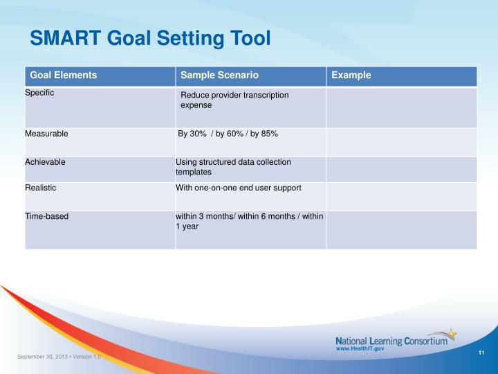 SMART Goal Setting Tool