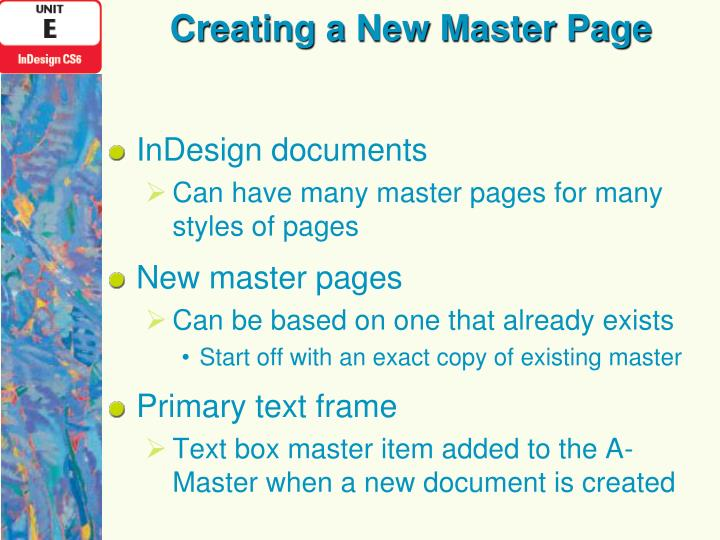 Creating a New Master Page