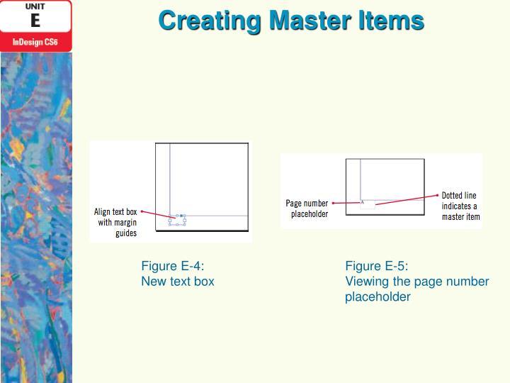 Creating Master Items
