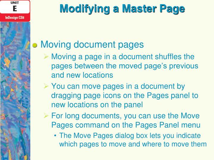 Modifying a Master Page