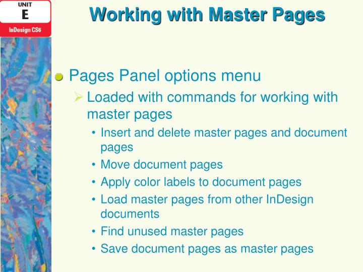 Working with Master Pages