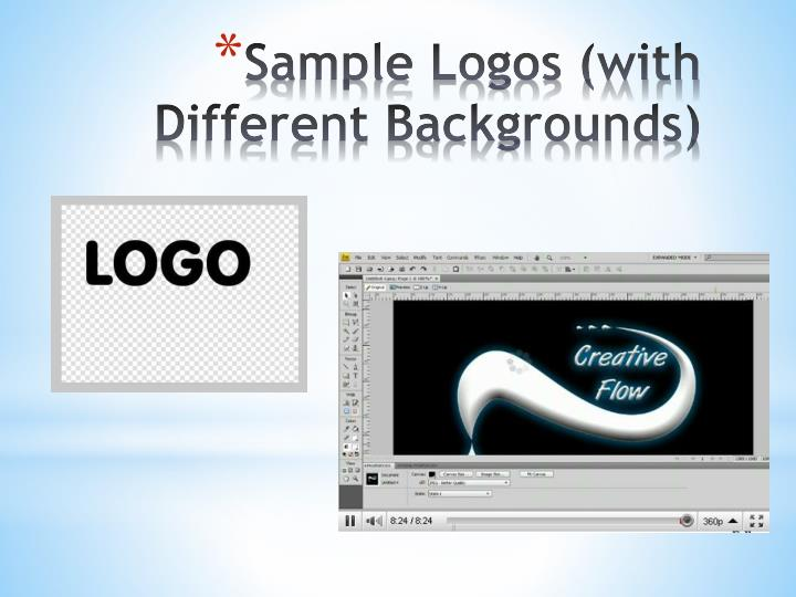 Sample Logos (with Different Backgrounds)