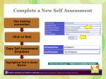 complete a new self assessment1