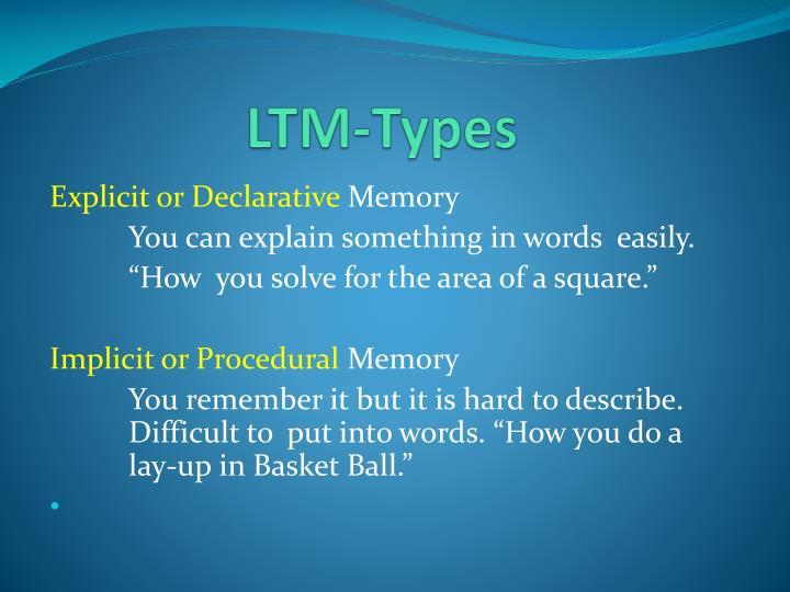 LTM-Types