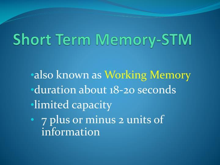Short Term Memory-STM