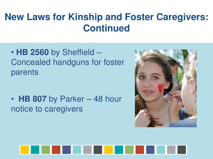 New Laws for Kinship and Foster Caregivers: