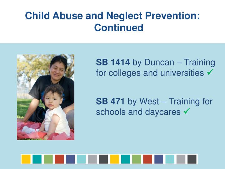 Child Abuse and Neglect Prevention: Continued