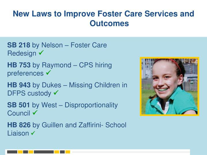 New Laws to Improve Foster Care Services and Outcomes