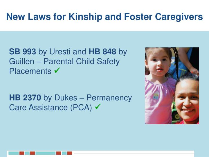 New Laws for Kinship and Foster Caregivers
