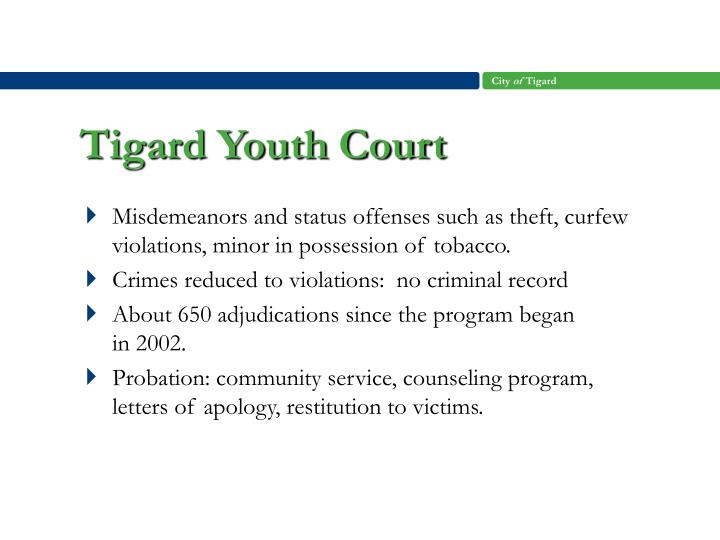 Tigard Youth Court