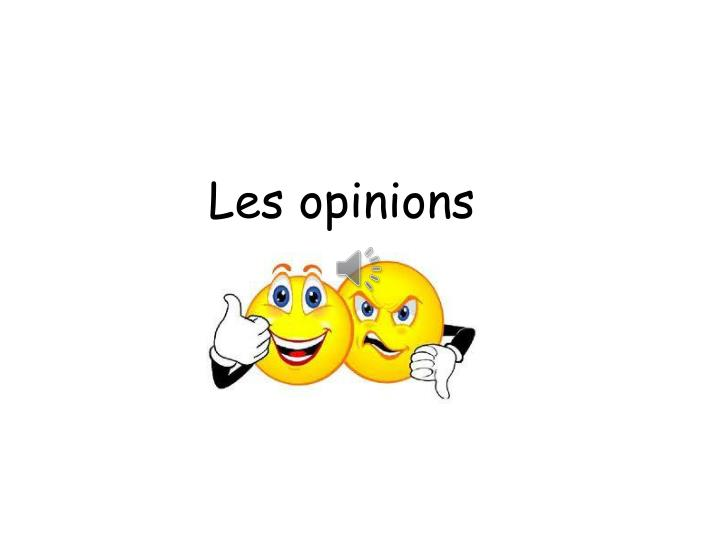 Les opinions