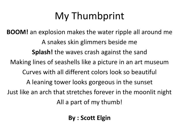 My thumbprint