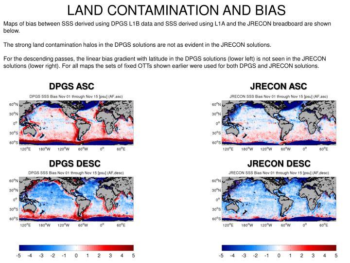 LAND CONTAMINATION AND BIAS