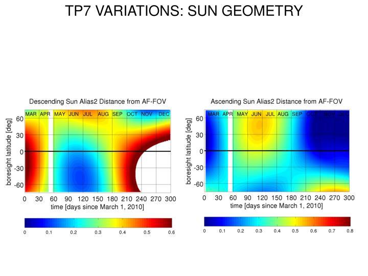 TP7 VARIATIONS: SUN GEOMETRY