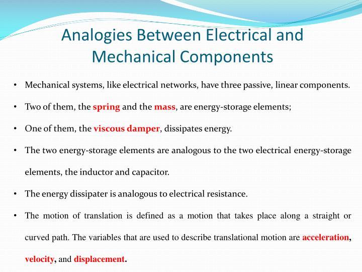 Analogies Between Electrical
