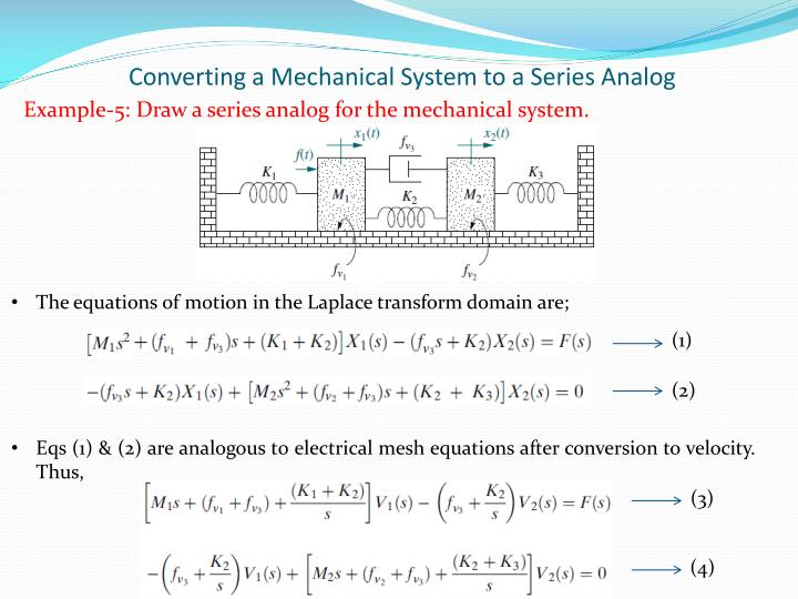 Converting a Mechanical System to a Series Analog