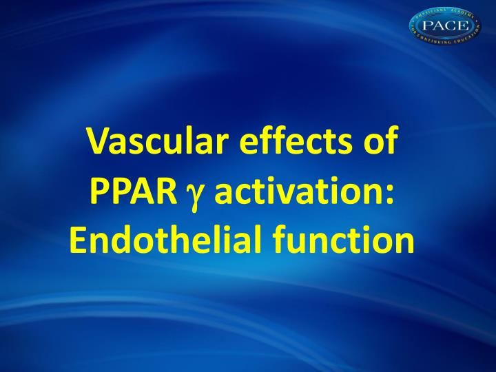Vascular effects of