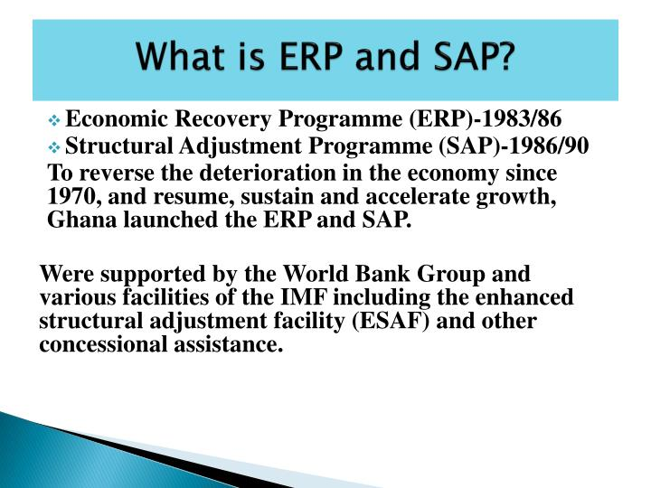 What is ERP and SAP?