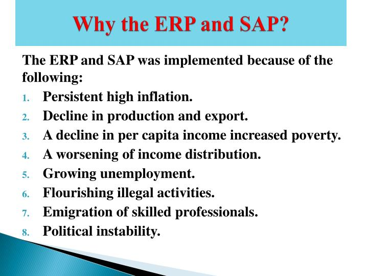 Why the ERP and SAP?