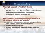 concerns we hear