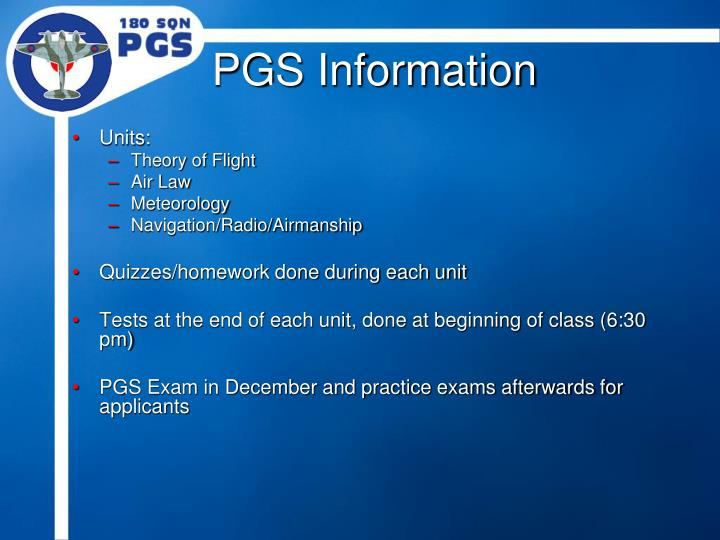 PGS Information
