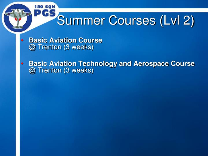 Summer Courses (Lvl 2)