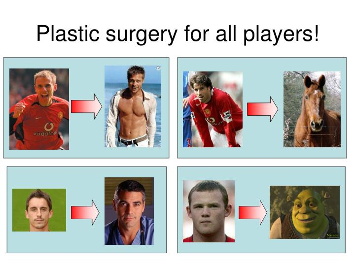 Plastic surgery for all players!