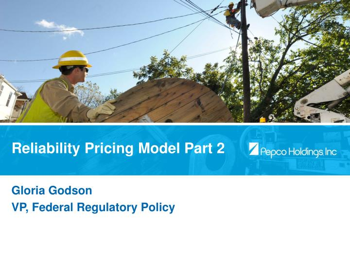 Reliability Pricing Model Part 2