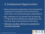 4 employment opportunities