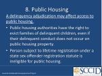 8 public housing
