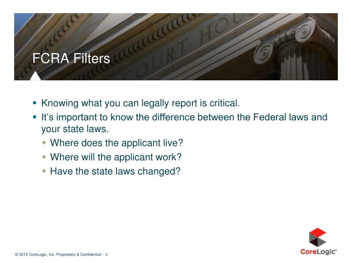 FCRA Filters
