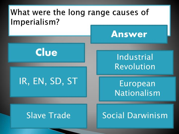 What were the long range causes of Imperialism?