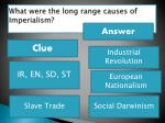 what were the long range causes of imperialism