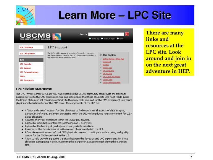 Learn More – LPC Site
