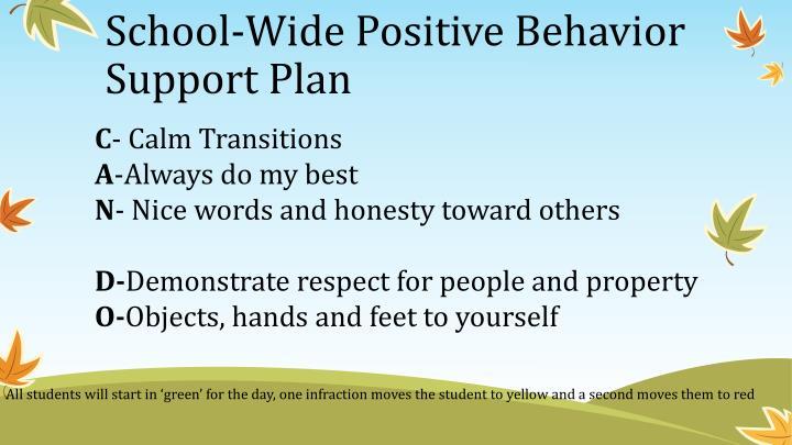 School-Wide Positive Behavior