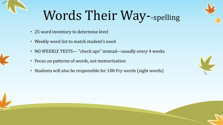 Words Their Way-