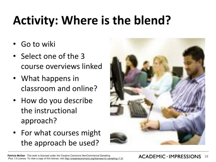 Activity: Where is the blend?