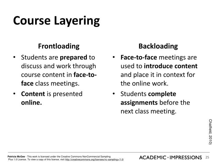 Course Layering