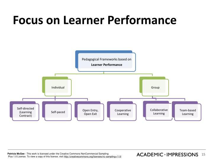 Focus on Learner Performance